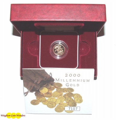 2000 Gold Proof 1/2 Sovereign - Millennium Year